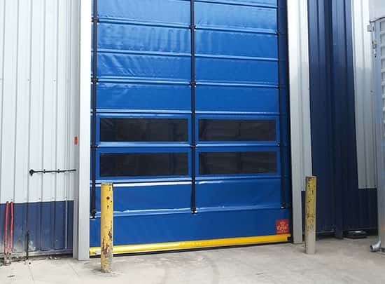Blue Double Window High Speed Door