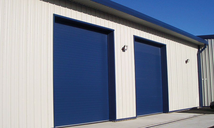 Blue Sectional Overhead Doors