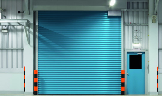 Blue Security Shutter