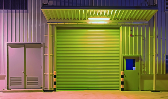 Industrial Security Shutters for a Warehouse Entrance