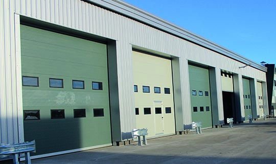 Sectional Overhead Doors with Windows