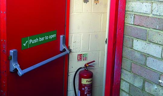 An Open Fire Door