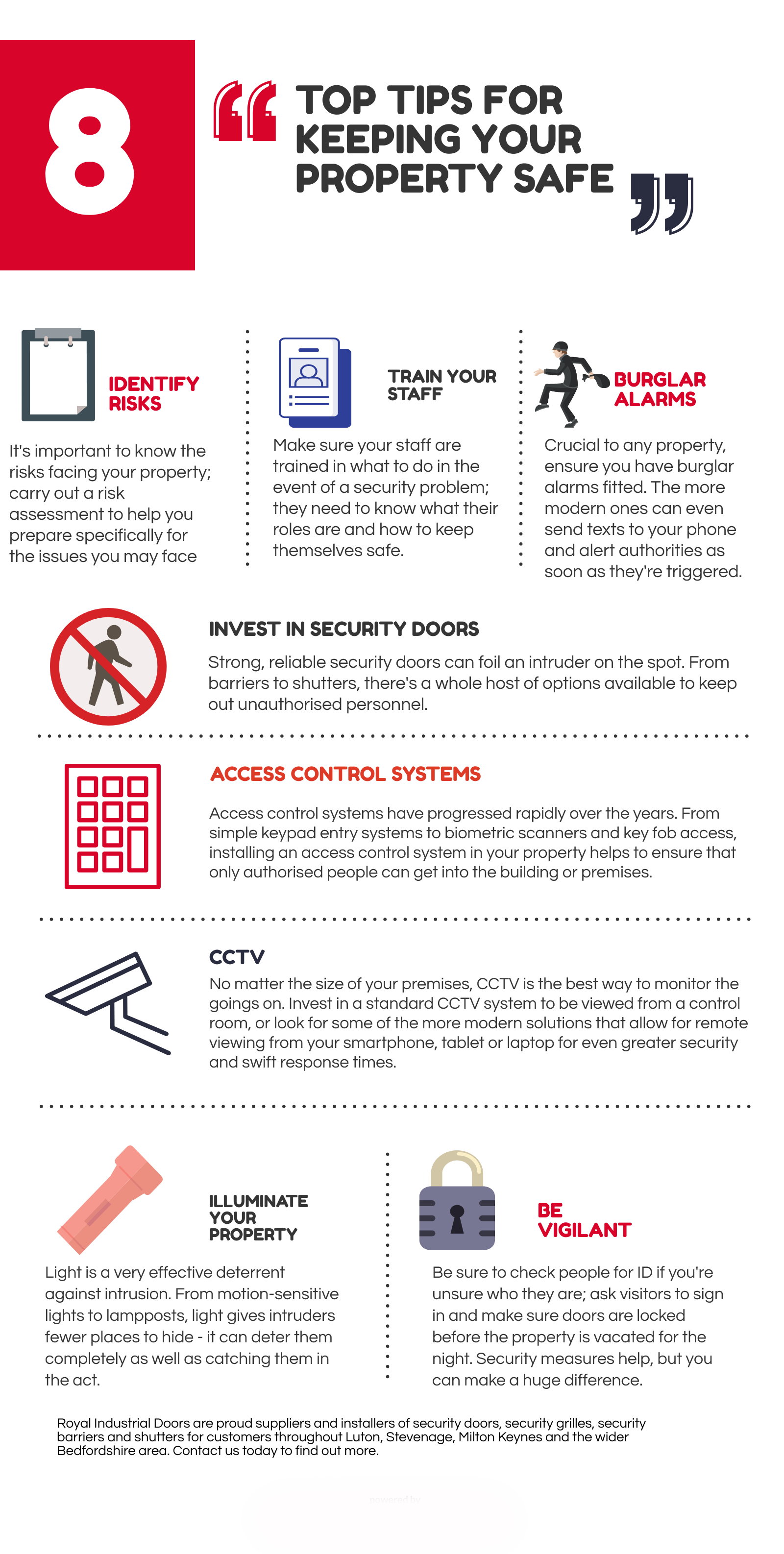 Infographic - 8 Tips for keeping your property safe